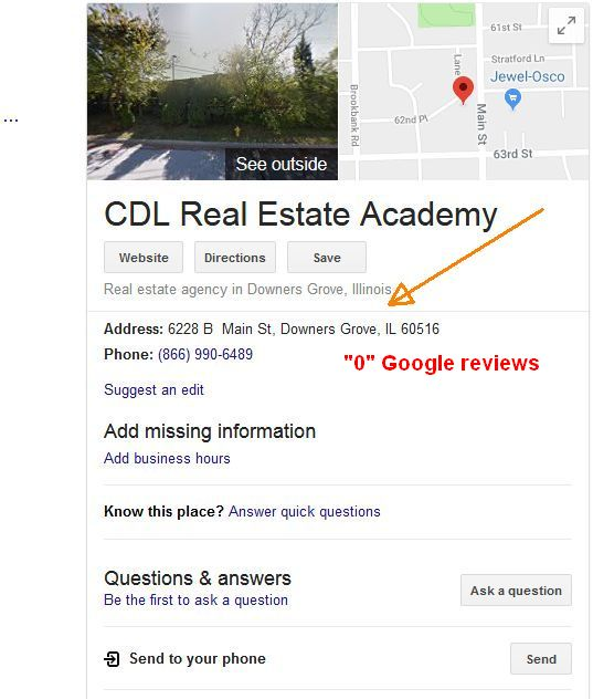 CDL Real Estate Academy Google before