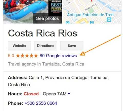 Costa Rica Rios Google reviews 10/29/19