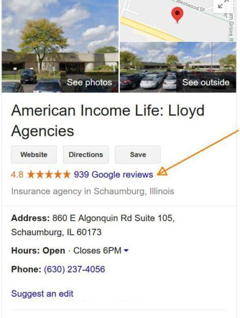 Google reviews 10/29/19