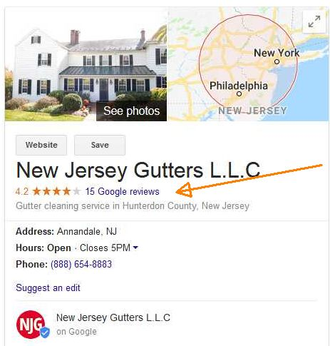 888gutters Google reviews before